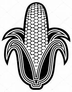 Black & white corn — Vector stock © Snovy #62414731