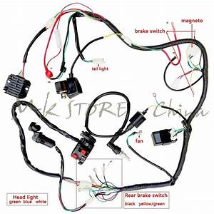 Complete Electrics Atv Quad250cc Coil Cdi Harness Wiring Atv Quad Bike Gokart