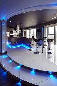 kitchen ultra modern kitchen concepts with beautiful led With kitchen colors with white cabinets with led backlit wall art