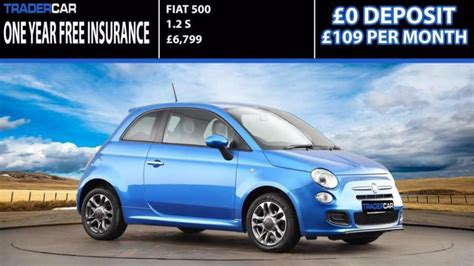 Fiat Insurance by Fiat 500 1 2 S Free Insurance In Brentwood Essex