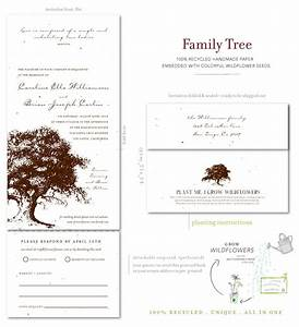 Plantable wedding invitations on seeded paper family for Family tree wedding invitations