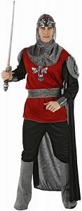Red and black knight costume
