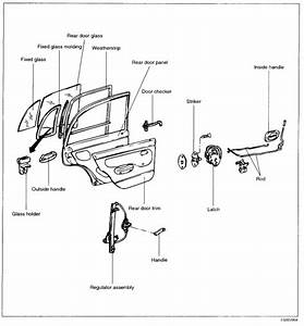 On My Hyundai Accent 2003 Gl The Back Door Outside Handle