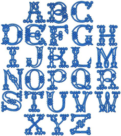 advanced embroidery designs celtic alphabet