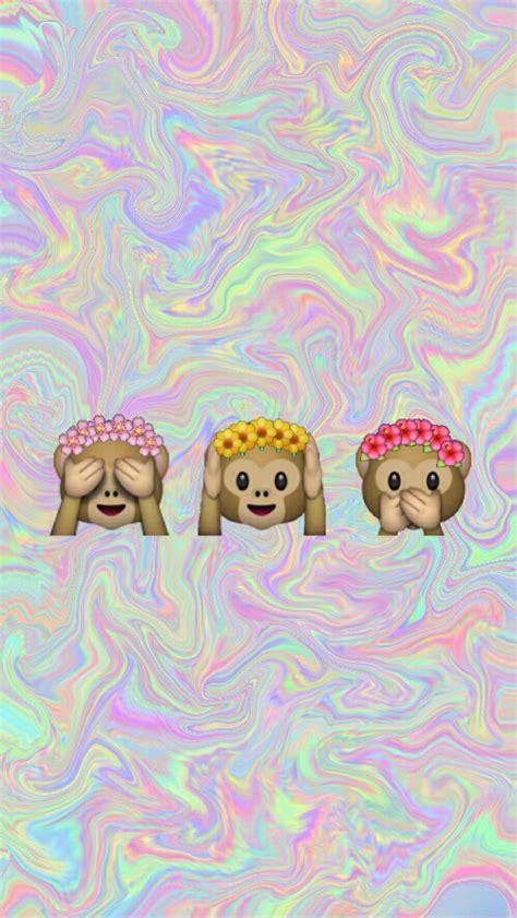 inspirational new emojis for iphone monkey emoji wallpaper wallpapersafari Inspi