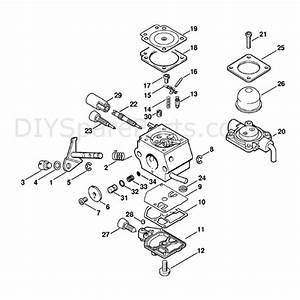 Stihl Fs 45 Brushcutter  Fs45c  Parts Diagram  Carburetor