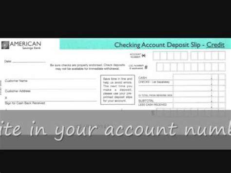 fill  deposit slip youtube