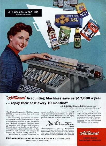 Accounting Machines National Ads Advertisements Retro 1955