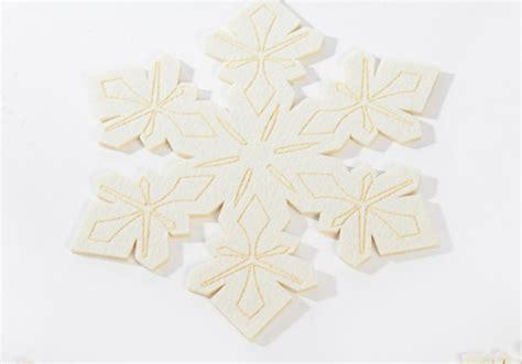 felt table mats set of 4 snowflake table felt dish mats