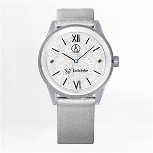 Q U0026q Smilesolar Silver Unisex Watch