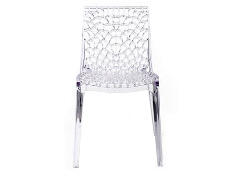 chaise cristal lot de 2 ou 6 chaises diademe polycarbonate 3 coloris