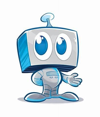 Robot Robots Cartoon Drawing Future Character Illustration