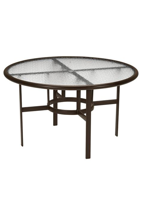 dining table 48 quot acrylic top with umbrella