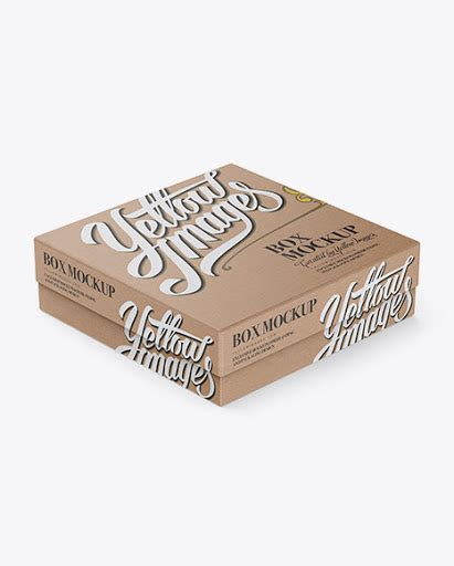 Simple edit with smart layers. Free Kraft Paper Jewelry Box Mockup - Halfside View (High ...