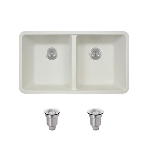 home depot kitchen sinks white mr direct all in one undermount composite 33 in