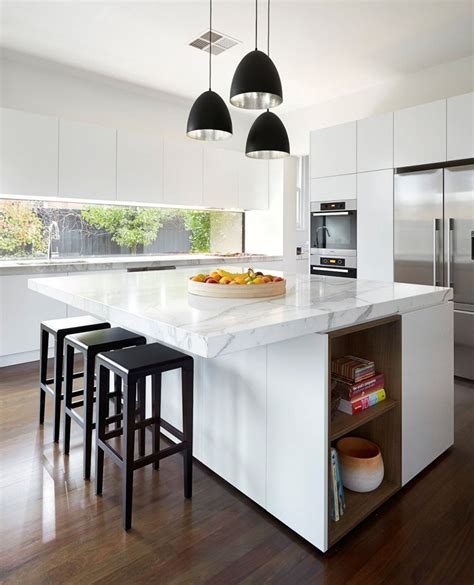 examples  bright white contemporary kitchens