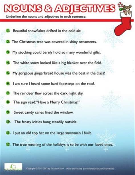 christmas nouns  adjectives  nouns adjectives