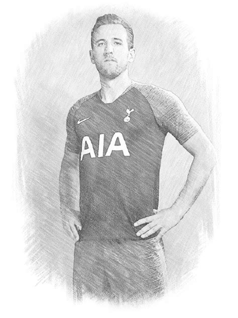coloring page uefa champions league  harry kane