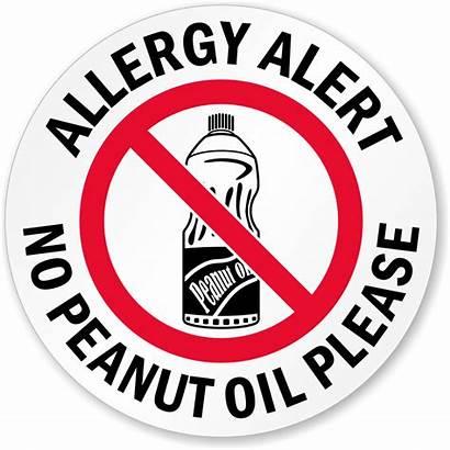 Peanut Allergy Oil Please Signs Alert Symbol
