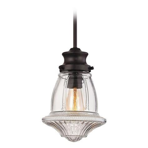 elk lighting schoolhouse pendants oil rubbed bronze mini