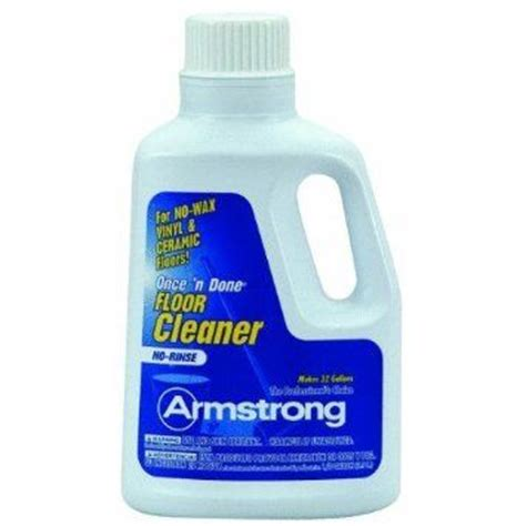 armstrong tile and vinyl floor cleaner armstrong 330806 armstrong once n done cleaner