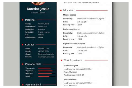best cv design free download