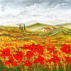 farm house house plans field of dreams poppy field paintings painting by lourry