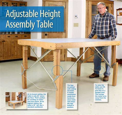 aw extra  adjustable height assembly table