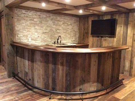 Railroad House Bar Sinking by Oak Curved Home Bar Custom Home Bars