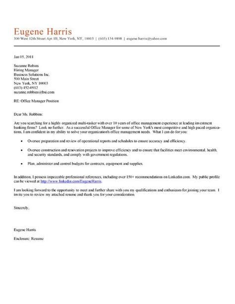 office manager cover letter  cover letter