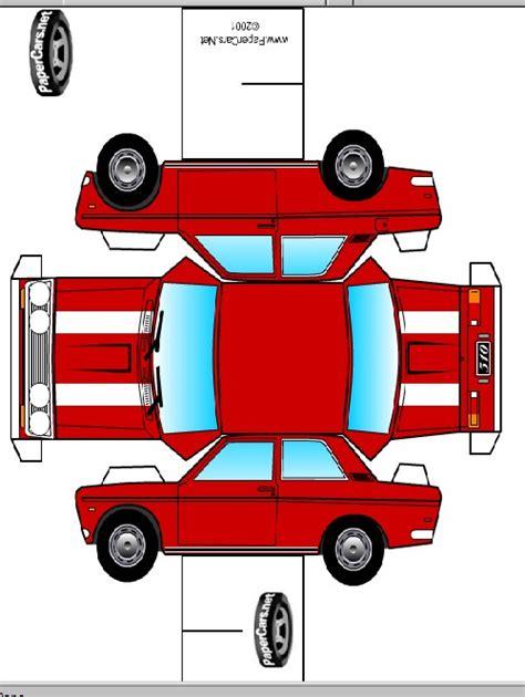 como hacer maquetas autos de papel carros de papel montar e imagens cultura mix