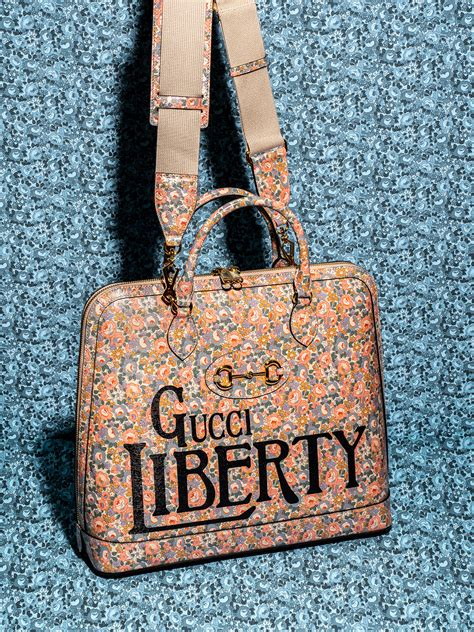 gucci collaborates  liberty   ideal retro  modern collection purseblog