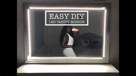 easy diy led light up vanity mirror with remote