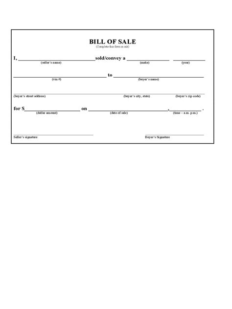 Excel Boats Iowa by Iowa Bill Of Sale Form Free Templates In Pdf Word