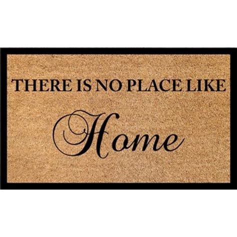 theres no place like home doormat dynamic rugs vale there is no place like home 18 in x 30