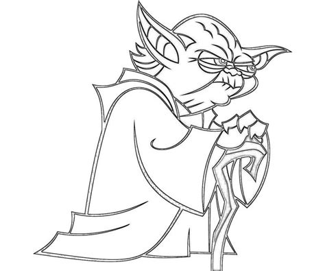 yoda coloring pages coloring home