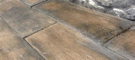 installed barn plank  timberstone pavers