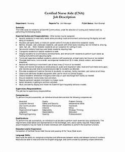 nursing assistant job description for resume resume ideas With cna job description for resume