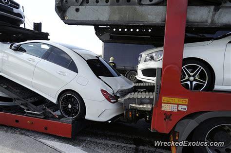 brand  mercedes vehicles damaged   transported