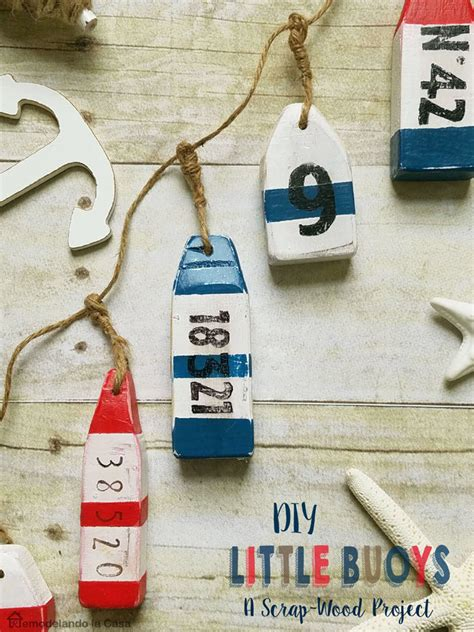diy  wooden buoys remodelando la casa