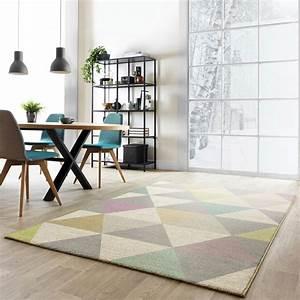 Tapis Forme Geometrique : tapis multicolore pastel aux formes g om triques fait en belgique et de grande qualit tapis ~ Teatrodelosmanantiales.com Idées de Décoration