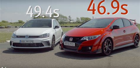 golf gti clubsport humiliated by civic type r in