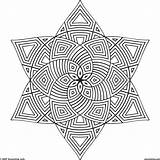 Coloring Pages Geometric Printable Mandala Pattern Adult Shapes Sheets Patterns Shape Colouring Pencils sketch template