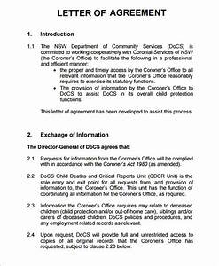 letter of agreement 8 free pdf doc download sample With free letter of agreement