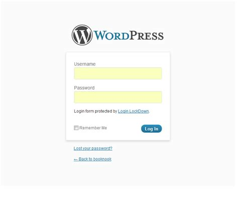 custom wordpress login page nose graze