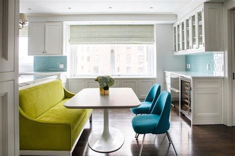 Settee In Kitchen by Green Dining Room Settee Contemporary Kitchen
