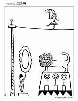 Circus Coloring Sheets Joel Theme Sheet Preschool Cirque Crafts Coloriage French Carnival Colouring Coloriages Madebyjoel Colorier раскрашивания для Printable Clown sketch template