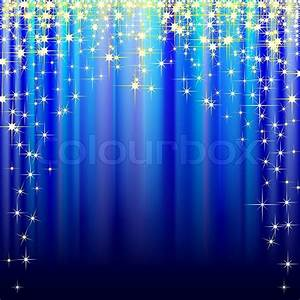 Illustration of festive blue background with gold stars ...