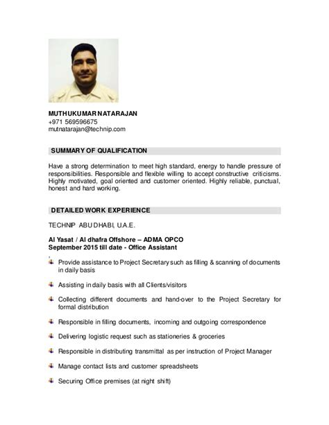 Resume For Office Boy Sle by Cv Office Boy Docx