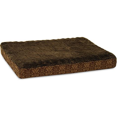 orthopedic pet beds petmate orthopedic bed with piping walmart
